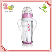 2015 safe and unbreakable/anti-explosion glass baby feeding bottle