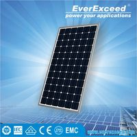 EverExceed 300w 156*156 Monocrystalline Solar Panel made of Grade A solar cell with TUV/VDE/CE/IEC certificates