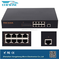 Unmanaged 10/100M 25.8w 8 Port PoE Switch for IP Cameras