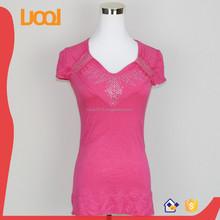 fashion cotton blouse neck designs for ladies blouse