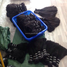 """12"""" 14"""" 16"""" 18"""" 20"""" virgin human hair material raw bulk hair double drawn hair bulk"""
