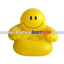 Yellow Emoji Printing Inflatable Sofa for children