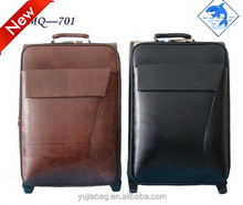 2015 Fashion leather universal wheel trolley luggage , trolley bag , leather bag .