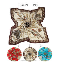 SA429 193 square silk scarf fashion silk scarf new dress 100% silk hijab shawl and scarvessupplier alibaba china
