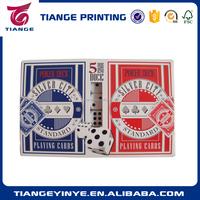 Customized Double Set Gambling Poker Card Printing