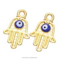 Wholesale Turkey Gold TONE Evil Eye Large Hamsa Hand Charms Cheap Price