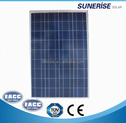 High quality 150W poly solar panel price india