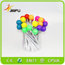 Colorful bulb shapes light up music ballpiont pen