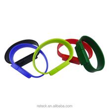 pvc bracelet usb flash , hand band usb flash drive