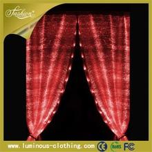 fiber optics fabric led arab style curtains for stage backdrops