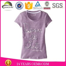 custom 100% cotton high quality fashion childern embroidery girls t-shirt