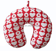 Popular fashion love pattern neck pillow for travel