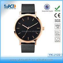 yk new arrival trending factory price custom logo ODM/OEM leather watches black