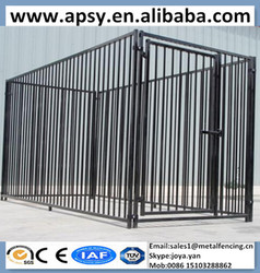 Future popular black hot-dipped galvanized big dog cages heavy duty wire pet enclosure large dog kennels