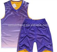 wholesale heat transfer/silk screen print polyester/cotton custom design basketball wear LQF-072