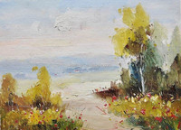 Art Supply Store Easi Landscape Oil Painting Pictur to Paint