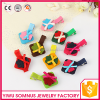 Best selling handmade fabric bear cute crocodile baby hair clips