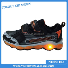 Best selling sport shoes/basketball shoes with led lights for children boys