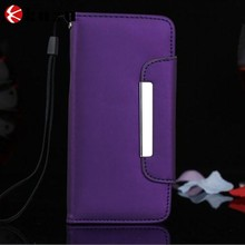 High grade PU blank cell phone case with magnet card slot design