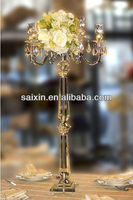 shining crystal candelabras flower stand for wedding decor
