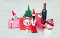 Chrismas designed gift 12oz Blackish green Grape wine glass bottle with cap wholesale