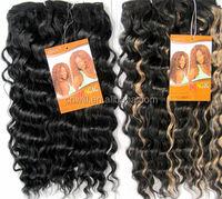 Stock Fashion Noble Hair Weaving Noble Synthetic Hair Weaving