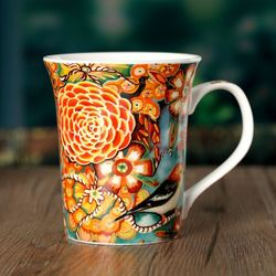 Gifts CH047 new hand-painted bird cup coffee mug Milk mug drinking cup ceramic cup