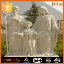 External villa design natural marble seven dwarfs garden statues