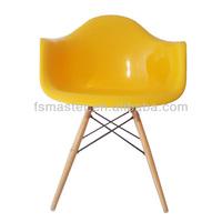 Mater designed wooden leg DAW chair
