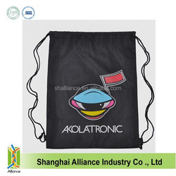 210D standard nylon polyester drawstring shopping bag ALD54