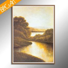 Nightfall scene wall decor natural canvas painting drawing picture print