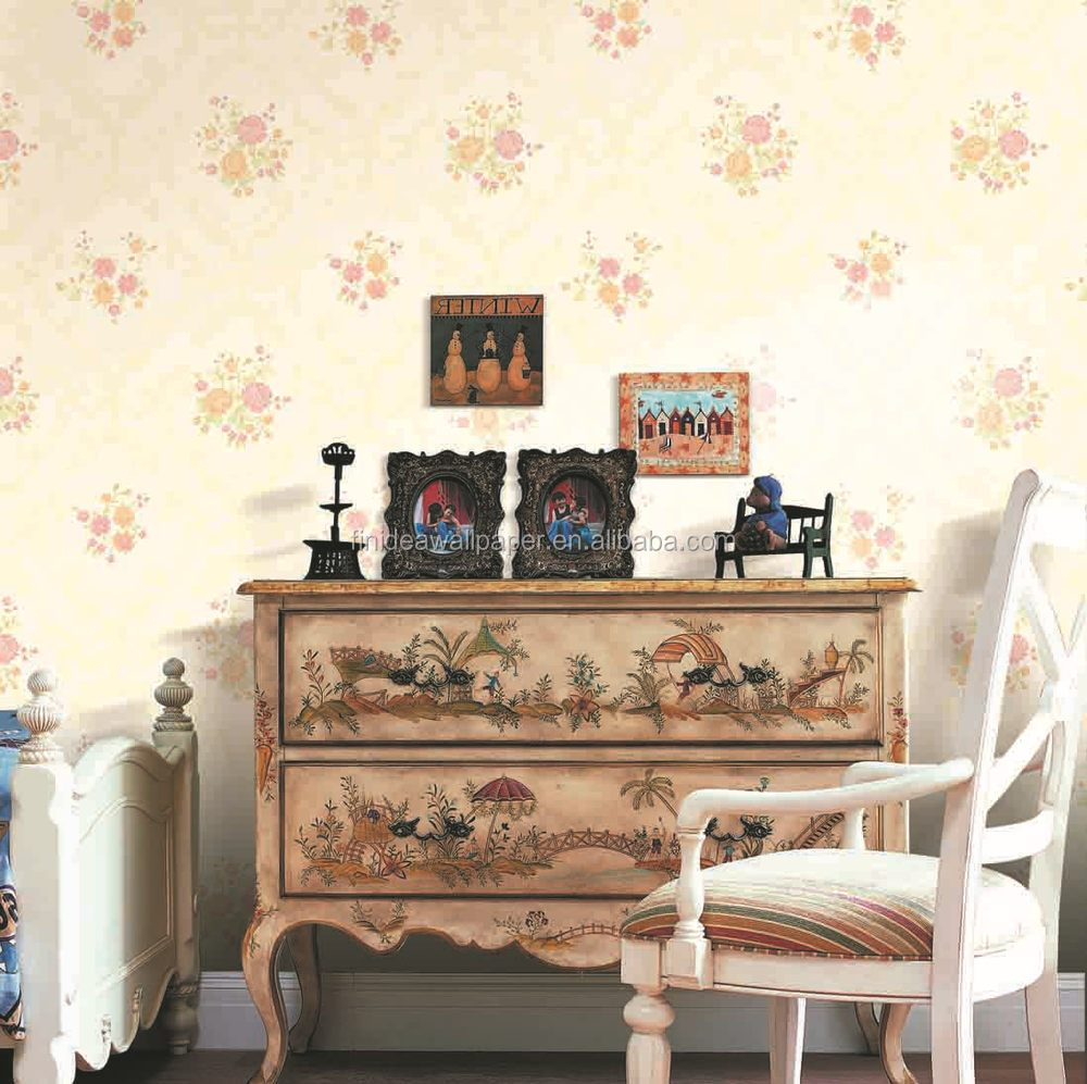 Landelijke stijl en warm gevoel non  woven behang materiaal voor ...