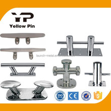 SS or HDG Cross Bollard single or double Horn Bollard Double Hollow base Cleat Center Low Cleat Heavy Duty Cleat