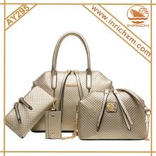 Women 4 Pieces in a Lot Simple Design Purse Leatherette Shoulder Handbags Clutches