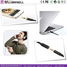 Millionwell elegant car aux cable audio video 1.5M extender cable, extension cable DC3.5MM male to female