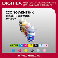 Enhanced color garmut and durability eco solvent ink for MIMAKI HS SOL INK