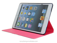 2014 Newest Hand made strap wallet leather case for iPad mini