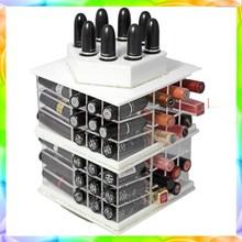 Clear Acrylic Make Up Organizer Acrylic Cosmetic Box Clear Acrylic Lipstick Organizer/Holds 72 Lipstick