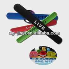for wholesale silicone snap or slap hand bands
