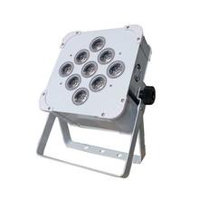 White color body flat par light 9pcs 12w led light battery
