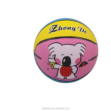 cheap factory direct sale 220g size 2 colorful cartoon animals kids toy Rubber Basketball KH10-16
