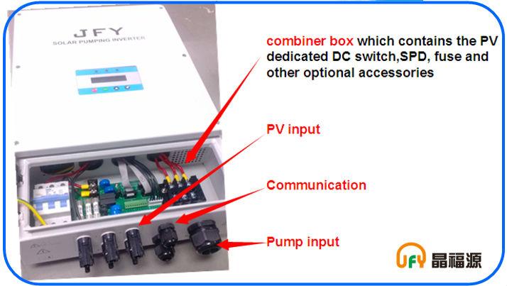 JFY solar pumping inverter - combiner box