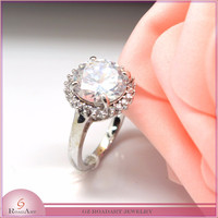 silver 925 diamond ring for sales