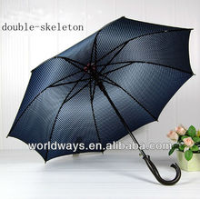Promotion Man and Woman large double-skeleton sun umbrella , wholesale gift polka dot umbrella