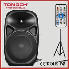ET 15 inch professional digital bi-AMP Adjustable bass and treble speaker with bluetooth