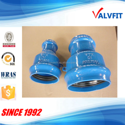 Ductile iron fittings socket taper reducer for PVC pipe