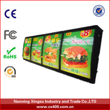 Single side or double side led menu ligh box for restaurant in advertising