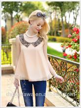 dabuwawa tops de verano blusa de encaje de moda blusa blusa de gasa