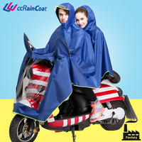 riding polyester double motorcycle rain poncho