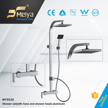 High-Quality Wall Mounted Shower Set , Angular Toilet&Shower Faucet Unit with Alternative Hose and Shower Head